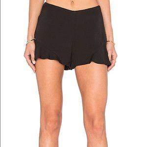 Free people fiona flutter high waist ruffle shorts